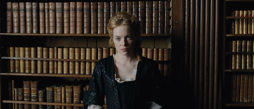 Emma Stone in  The Favourite .