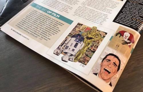 Turres' work being featured in Cineplex Magazine.