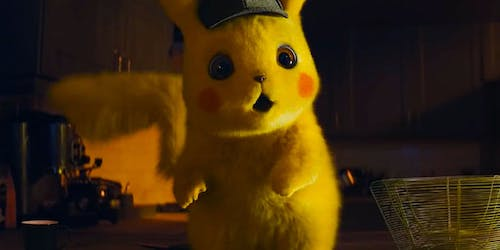 A promotional image for  Detective Pikachu .