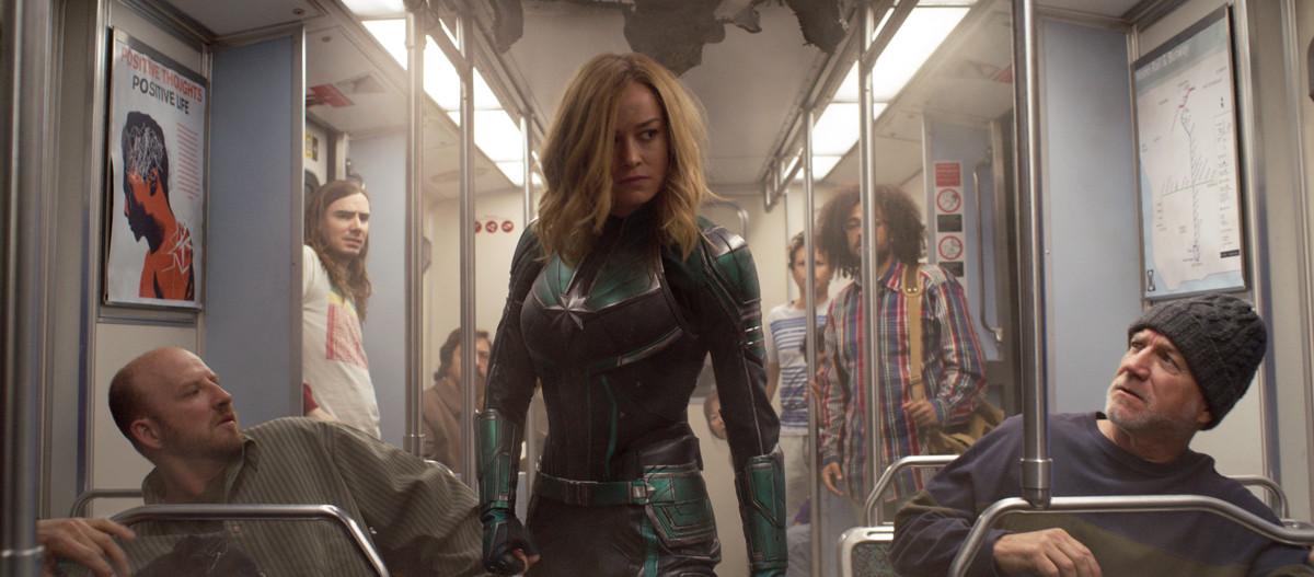Carol Danvers shortly after arriving on Earth.