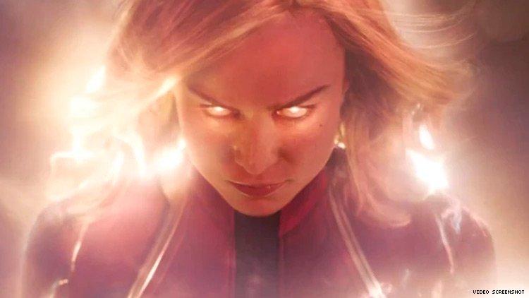 Captain Marvel unleashing her powers.