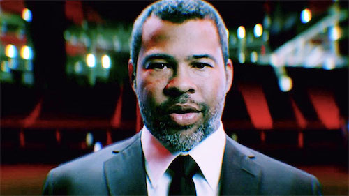 Jordan Peele in promotional work for  The Twilight Zone