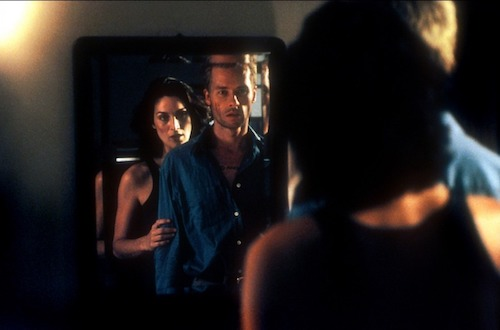 Leonard and Natalie (Carrie-Anne Moss) together.