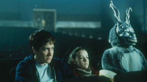 Frank the Rabbit in an early scene in  Donnie Darko .