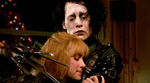 A climactic scene from  Edward Scissorhands .