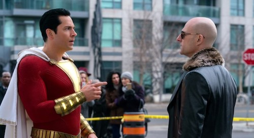 Shazam confronted by Thaddeus.