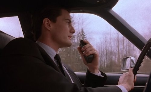 Special Agent Dale Cooper's first scene, shown almost halfway through the pilot.