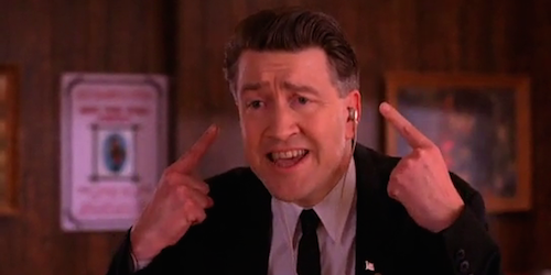 Is it any coincidence that David Lynch plays a character that commands each scene as if he were a in-the-moment director or producer?