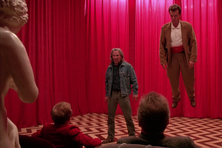 Leland and Bob in the Black Lodge.