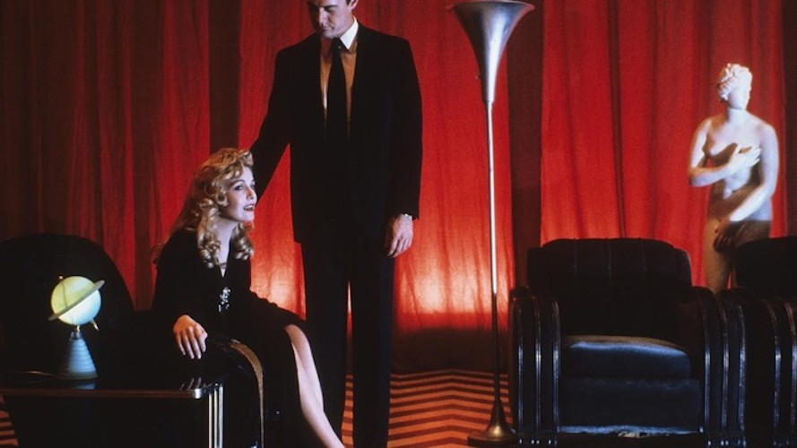 Laura Palmer and Dale Cooper in the Black Lodge.