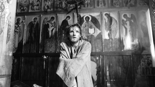 Andrei Rublev ; one of the sensational religious films.