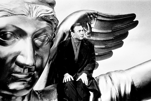 The late Bruno Ganz as a guardian angel in  Wings of Desire .