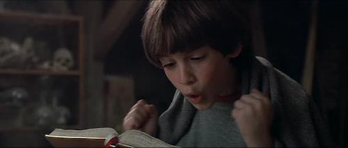 Bastian taking part in Fantasia's existence by reading.
