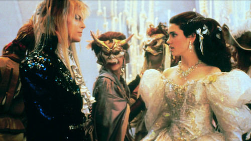 Sarah confronted by Jareth during a masqueraded ball.