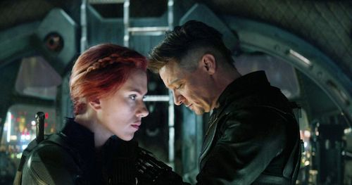 Black Widow and Hawkeye banding together for the greater good.