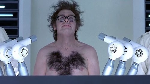 Austin Powers being unfrozen, and brought to the modern day.