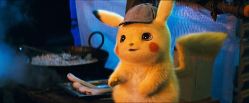 Call him Pika Pika Gittes: the titular electric mouse inspector on the case early in the film.