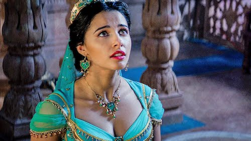 Princess Jasmine overseeing the chaos happening in Agrabah.