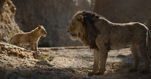 Scar blaming Simba for the death of the scene.