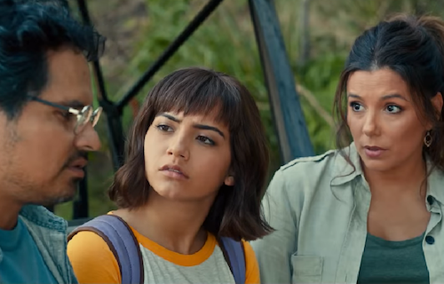 Dora being told by her parents that she is being sent away to the big city for school.