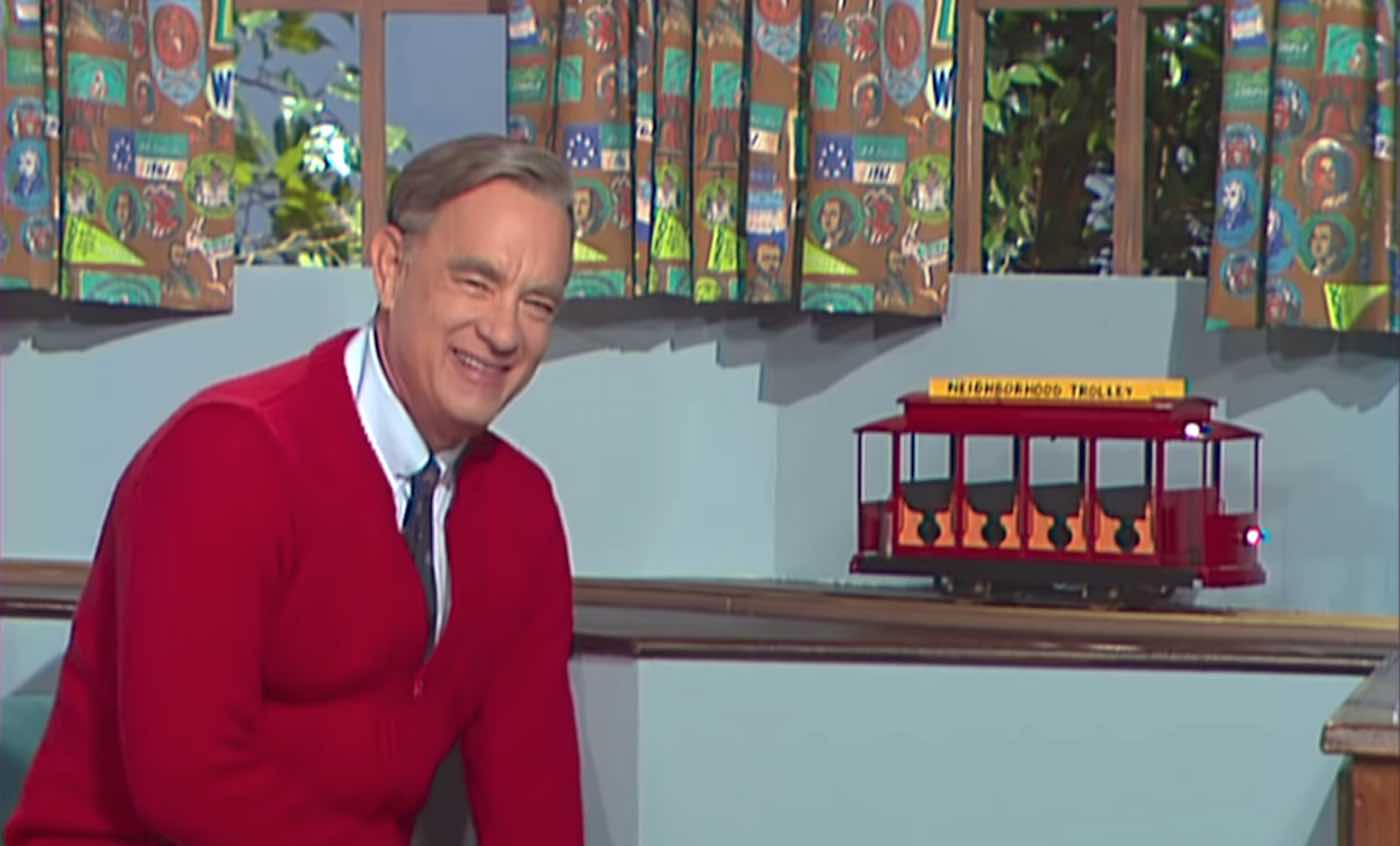 Portions of the film feature Hanks' Mr. Rogers addressing us as his audience.