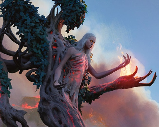 Wrenn and Six - RGLegendary Planeswalker — Wrenn+1: Return up to one target land card from your graveyard to your hand. -1: Wrenn and Six deals 1 damage to any target. -7: You get an emblem with