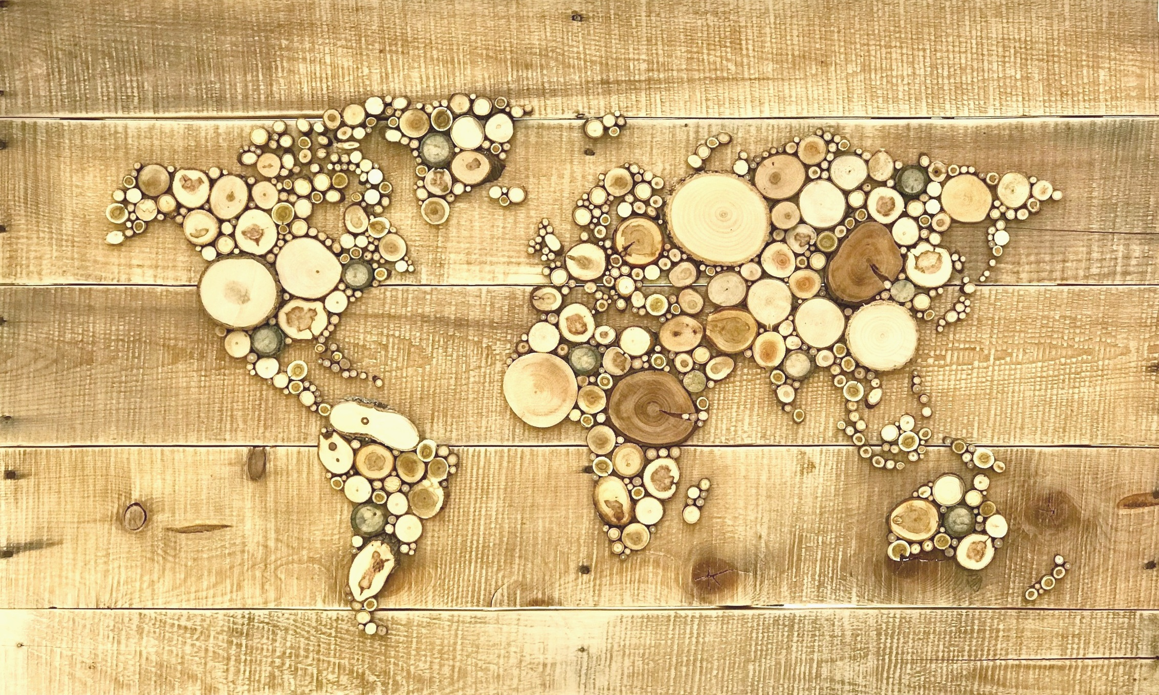 "World Map 24"" x 36"""