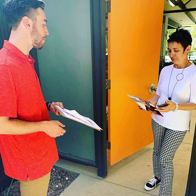 Notes from the #CampaignTrail  Meet Elizabeth.  One of her concerns is the odor coming from the Sunshine Canyon Landfill.  I hear this a lot from the residents of Granada Hills.  We need to do a better job with additional odor mitigation measures.
