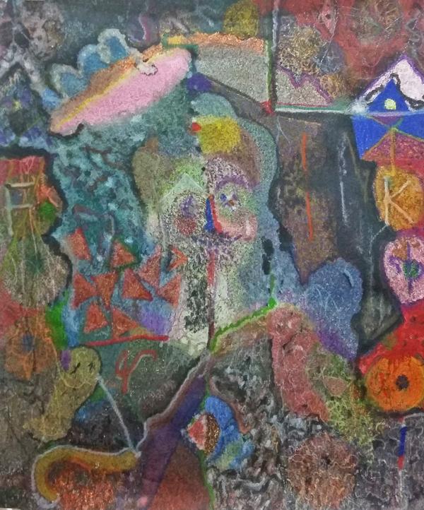 O.T. ( Frida Kahlo ), 2016  Buntstift auf Papier, 145x110cm