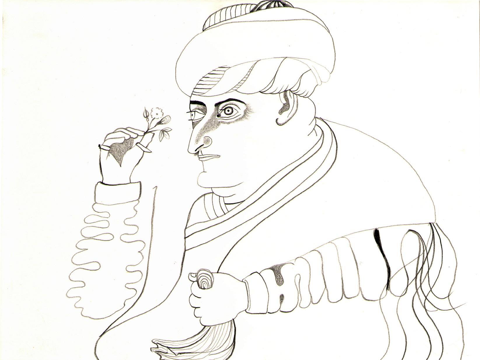 O.T. ( arab duo ), 2008  Bleistift auf Papier, 26.5x35.5cm