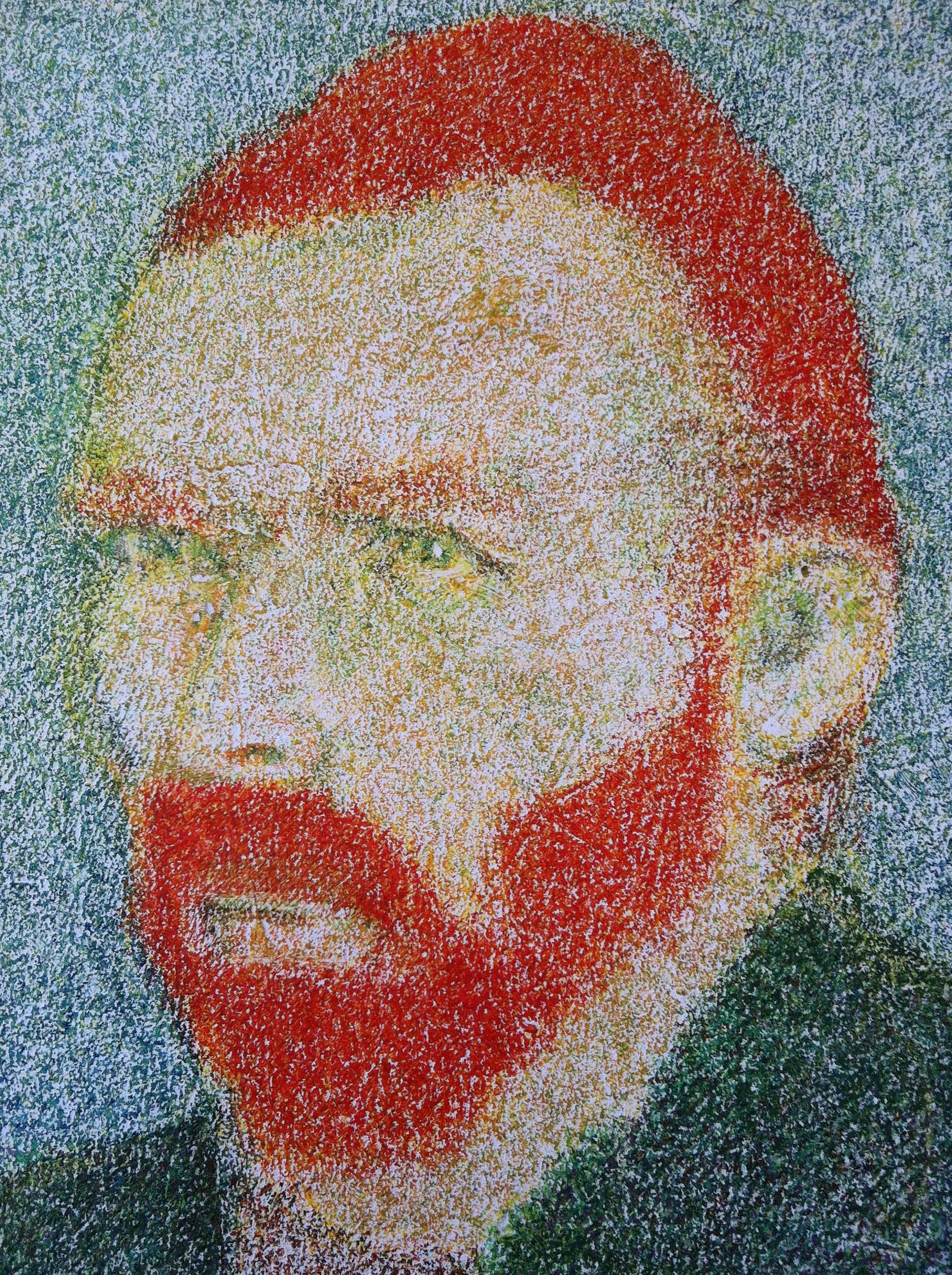 O.T. ( van Gogh ), 2014  Buntstift auf Wand, 100x85cm