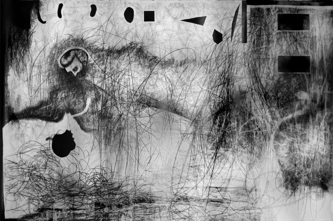 grieche , 2013  Bleistift auf Papier, 200x260cm