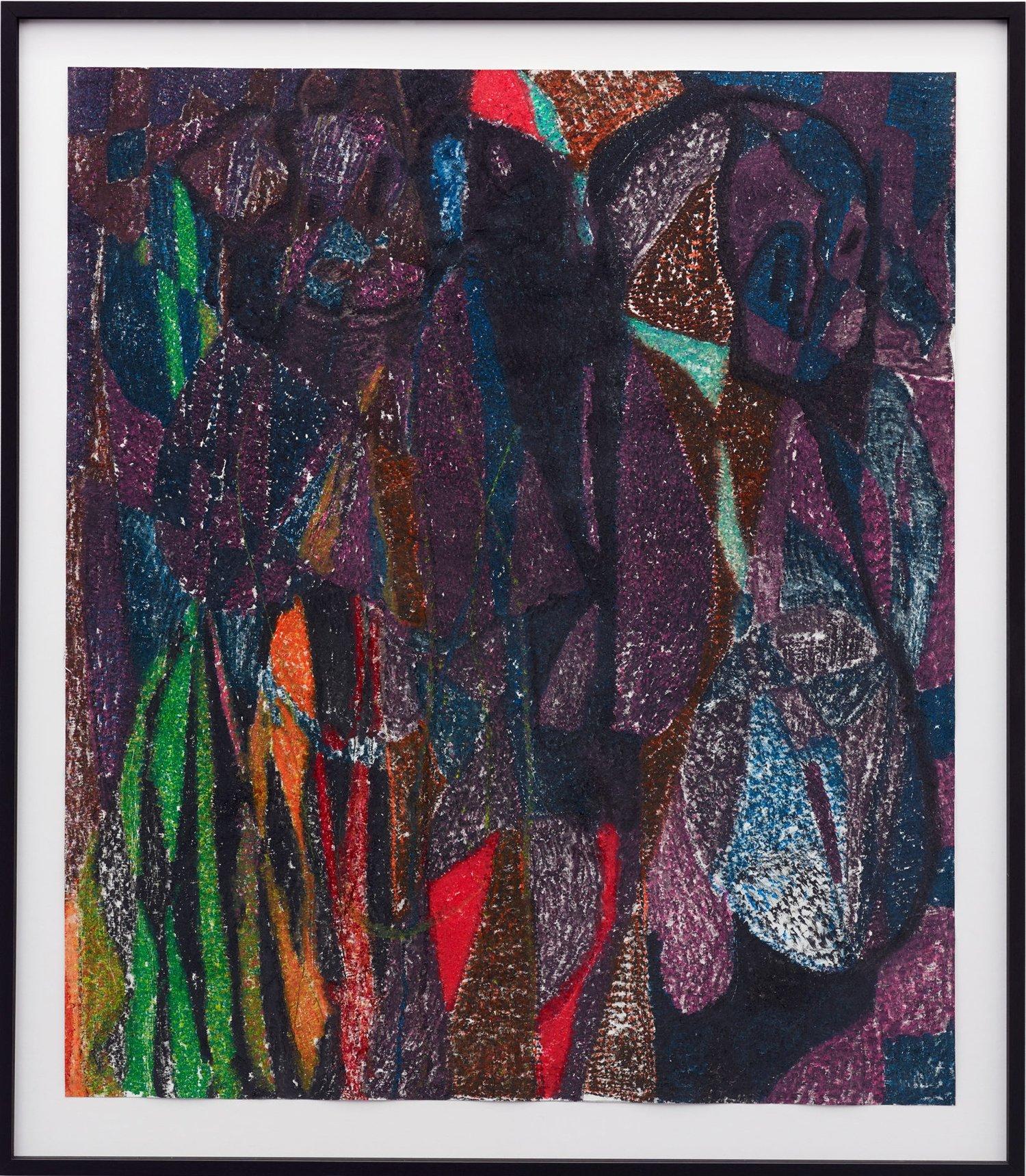 O.T. ( Brentano Brothers ), 2017  Buntstift auf Papier, 114x100cm