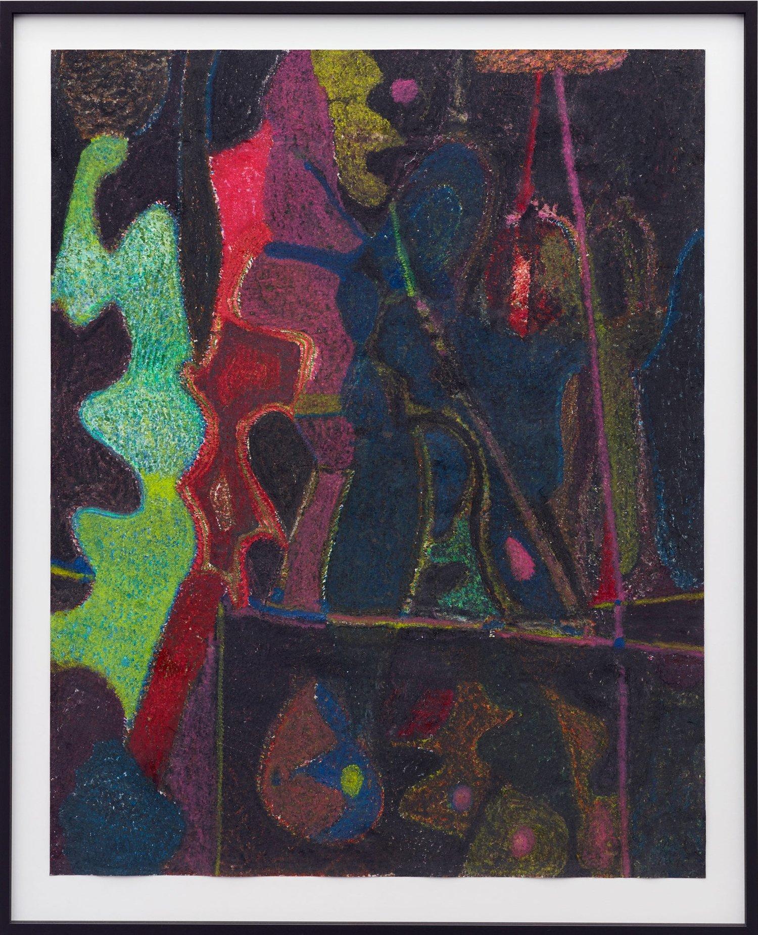 O.T. ( Kirchner? ), 2017  Buntstift auf Papier, 125x100cm