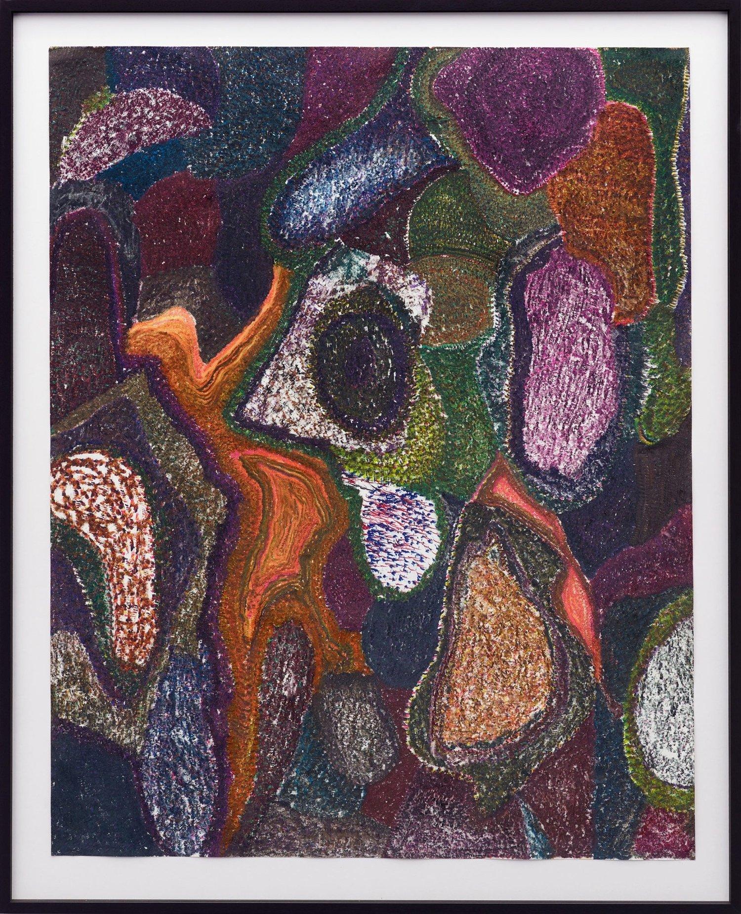 O.T., 2017  Buntstift auf Papier, 125x100cm