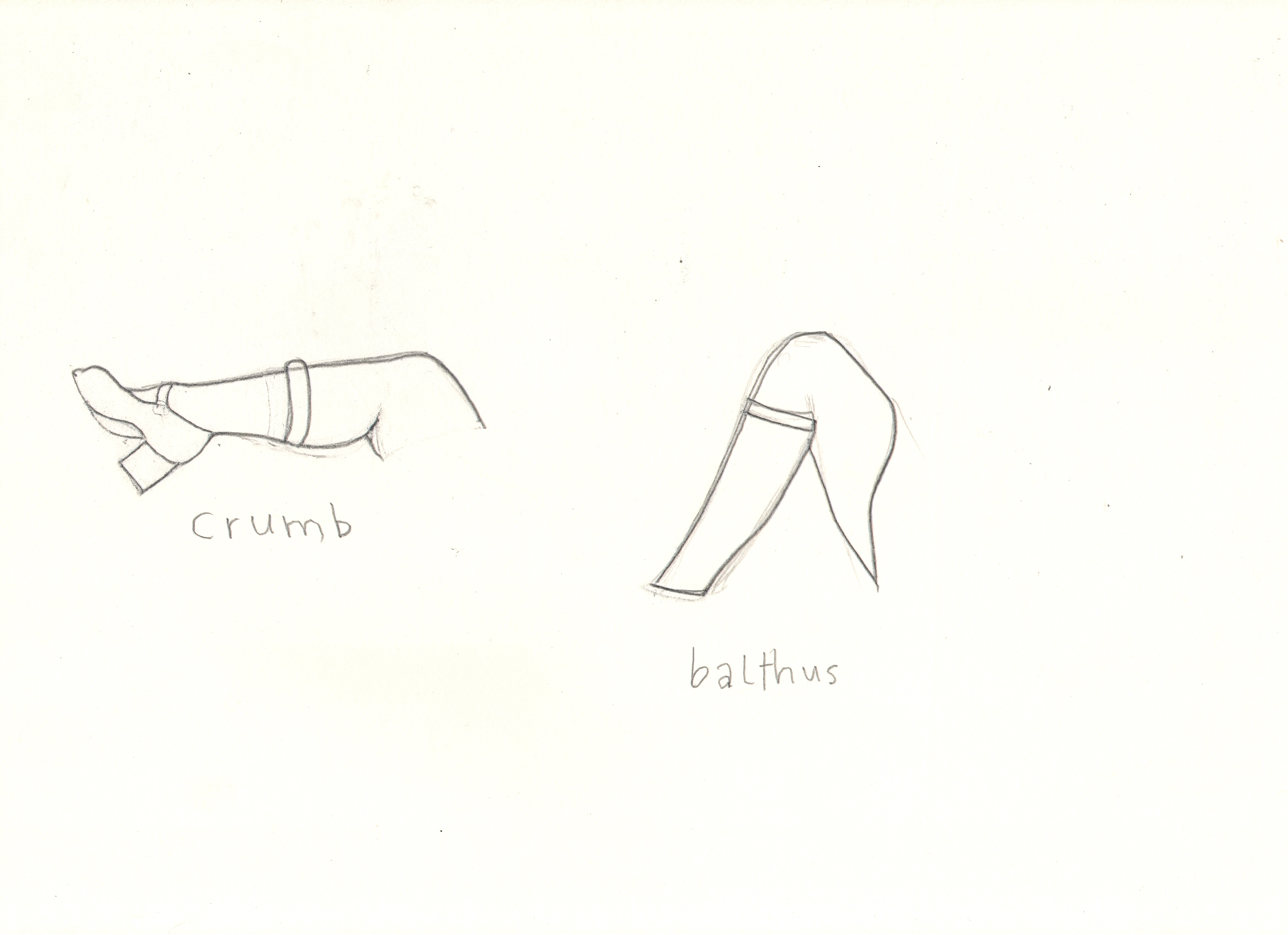 O.T. ( Serie Das Duell V Robert Crumb & Balthus ), 2018  Bleistift auf Papier, 26x35.5cm