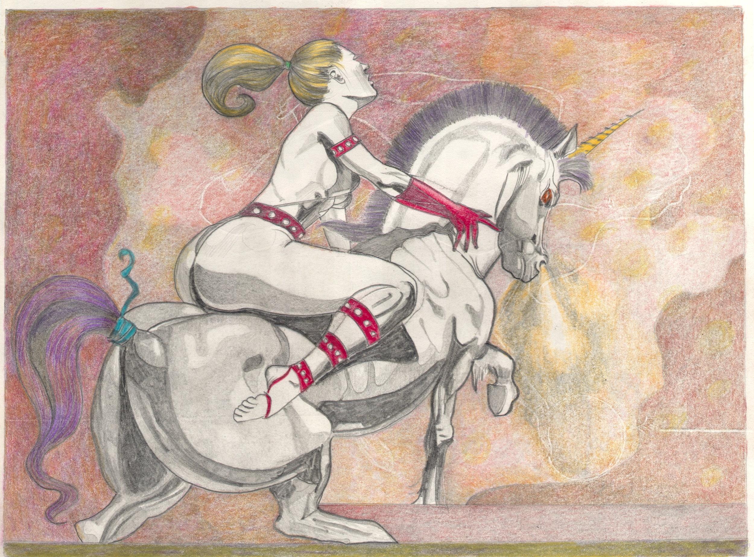 O.T. ( Serie Fantasy IIII ), 2018  Bleistift Buntstift auf Papier, 26x35.5cm