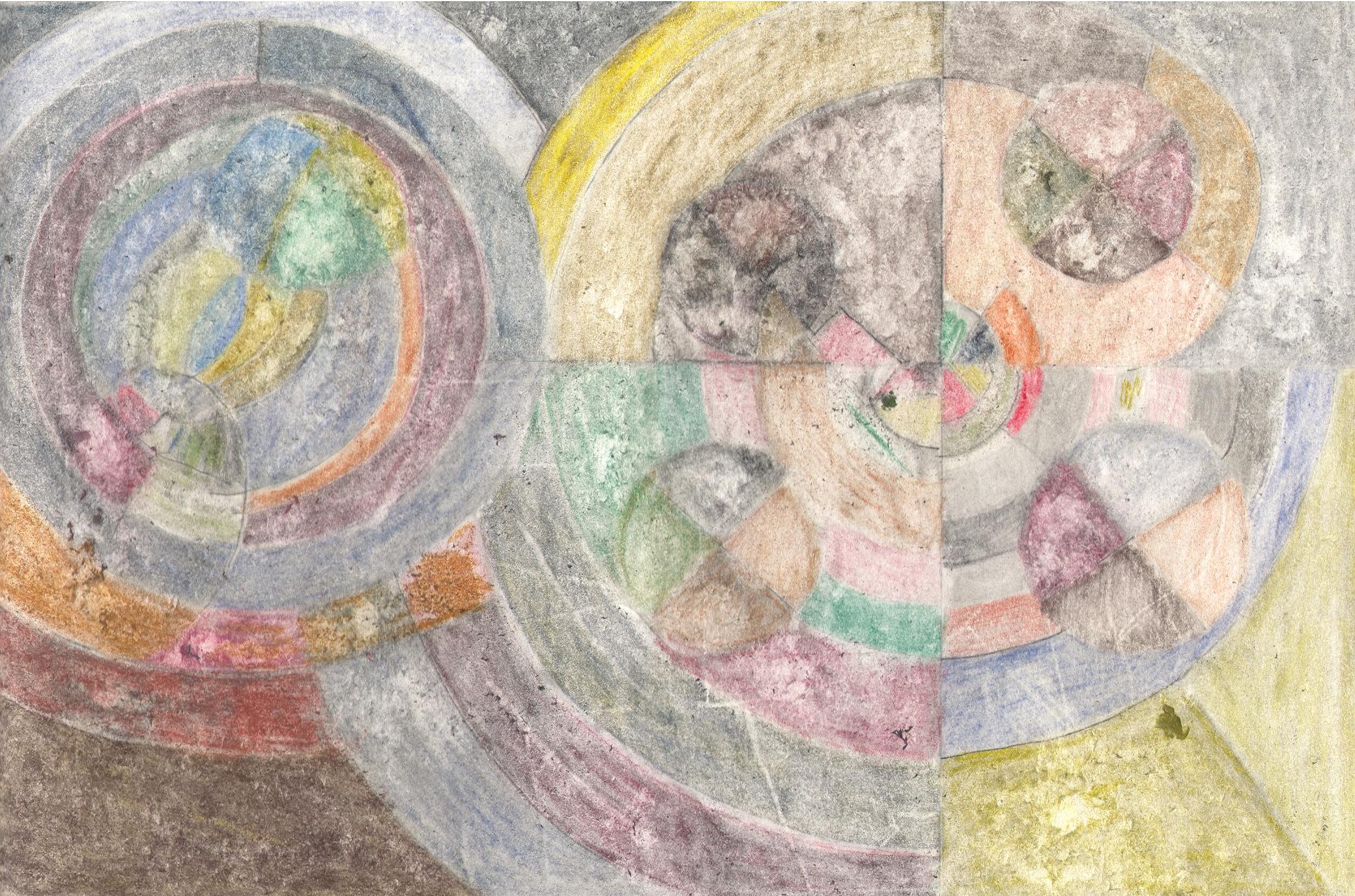 O.T. ( Serie Familie Delaunay1 ), 2018  Bleistift auf Papier, 26x35.5cm