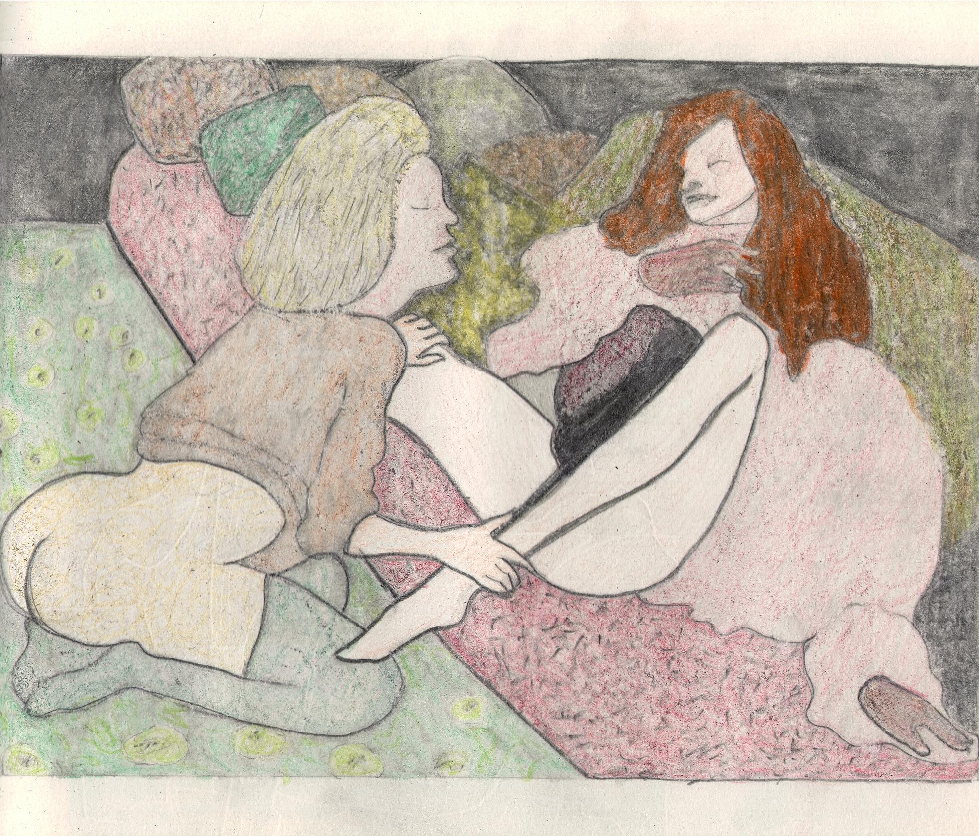 O.T. ( Serie Leonor Fini 3 ), 2018  Bleistift auf Papier, 26x35.5cm