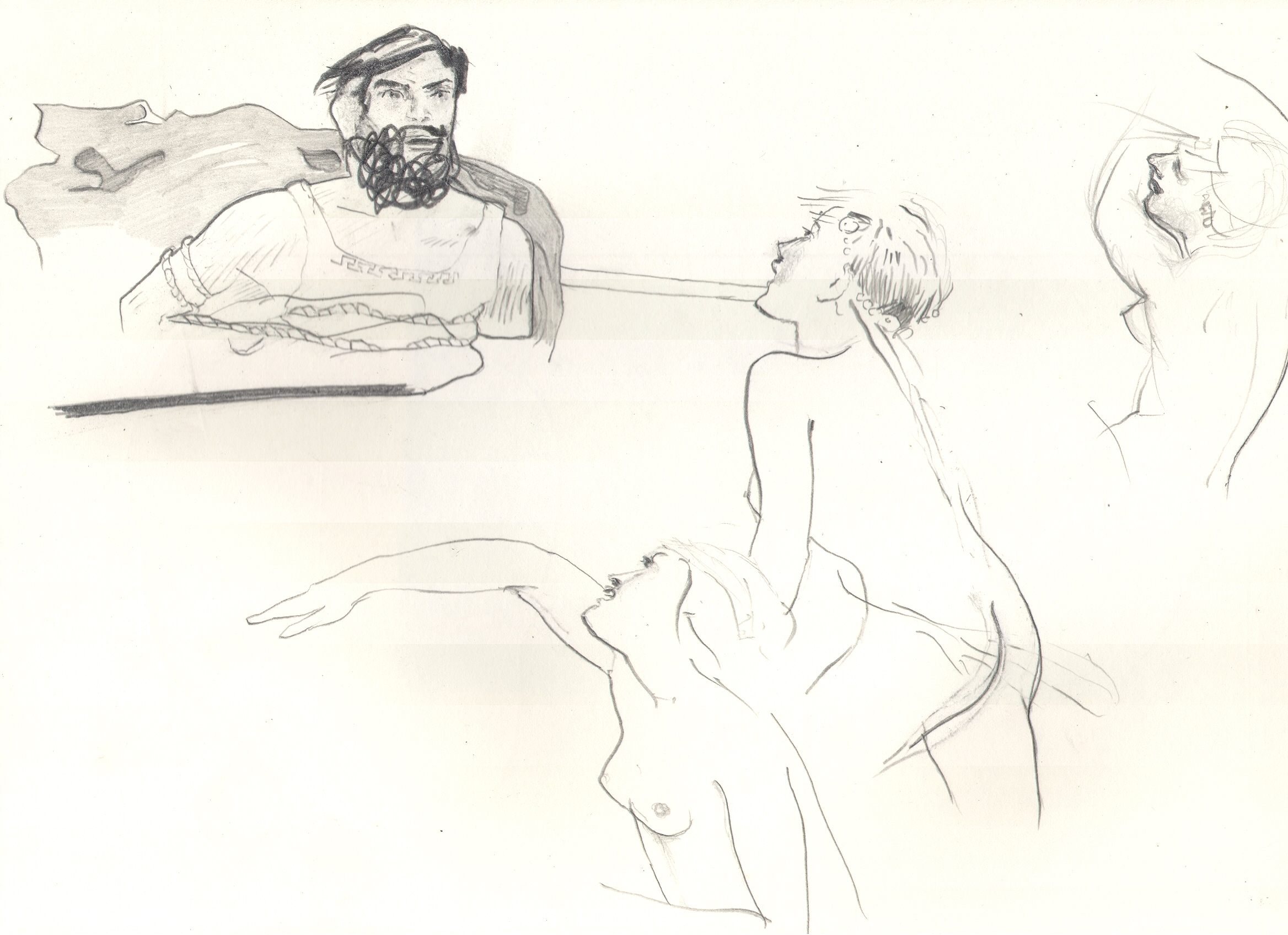 O.T. ( Serie Sirens ), 2018  Bleistift auf Papier, 26x35.5cm