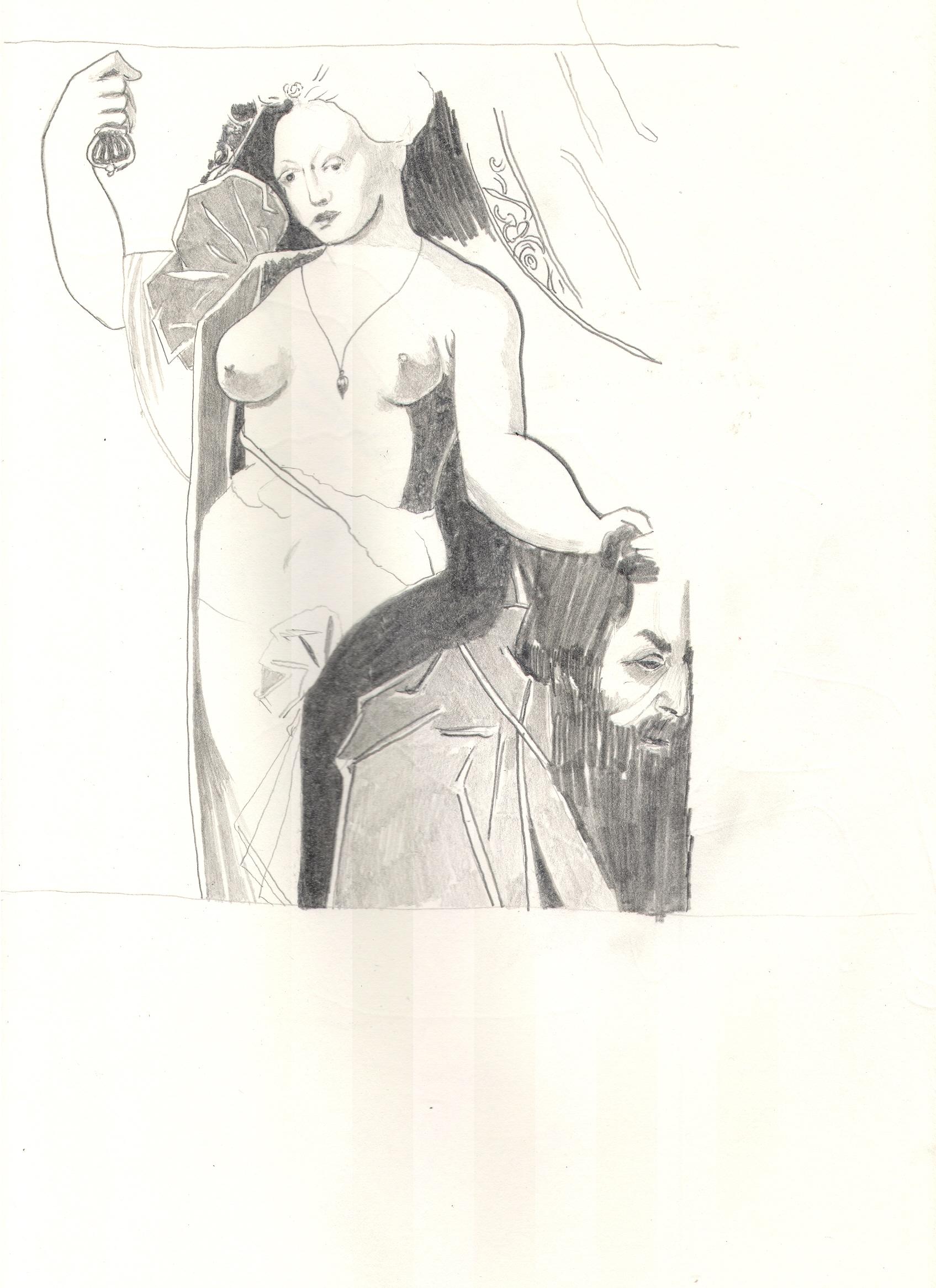O.T. ( Judith ), 2018  Bleistift auf Papier, 26x35.5cm