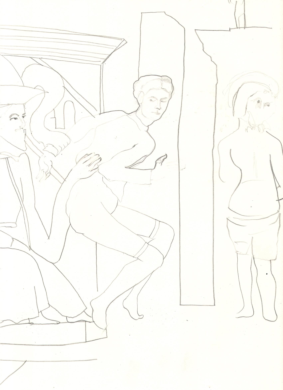 O.T. ( Pierre Klossowski I ), 2018  Bleistift auf Papier, 26x35.5cm