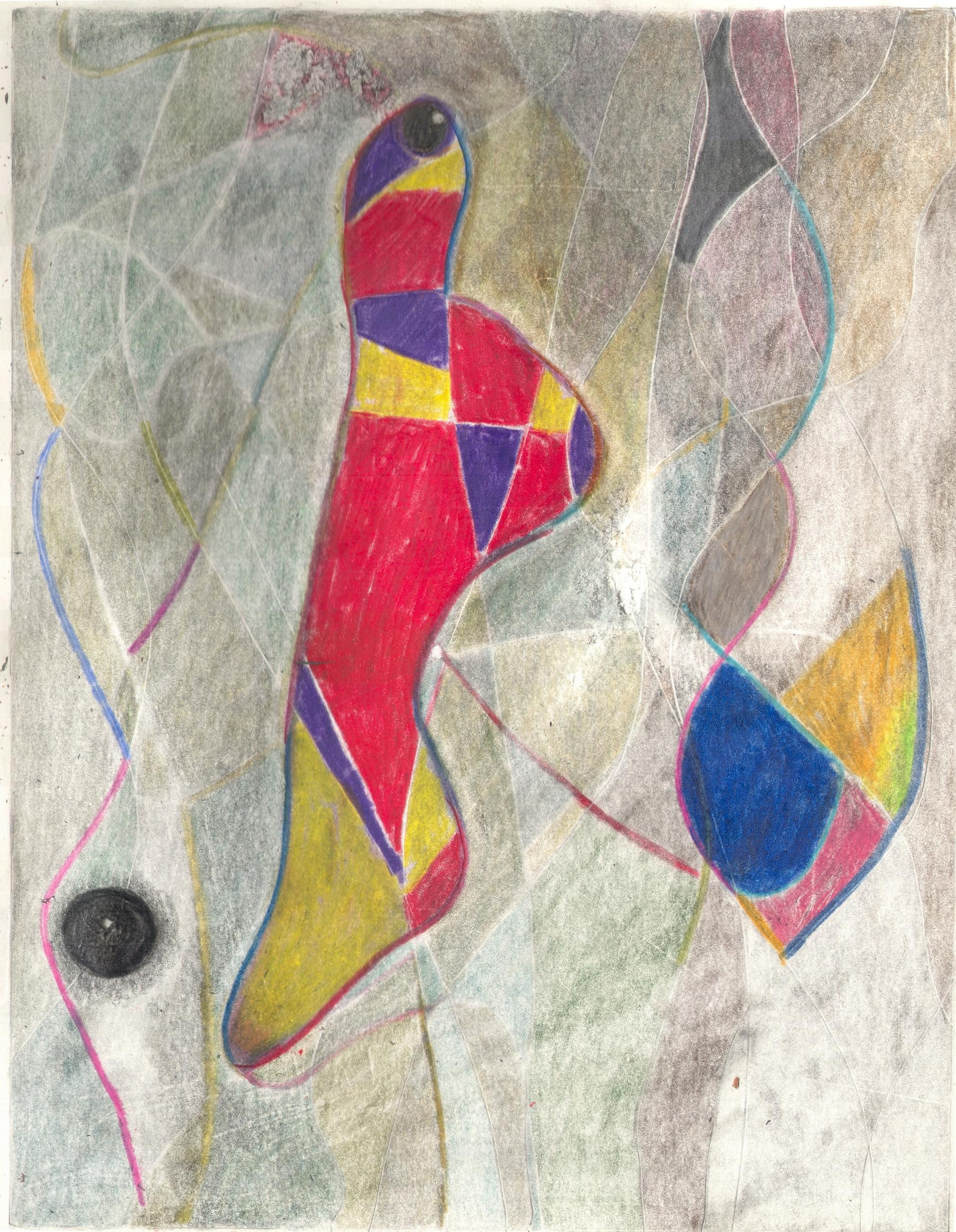 O.T. ( Abstract fun ), 2018  BleistiftBuntstift auf Papier, 26x35.5cm