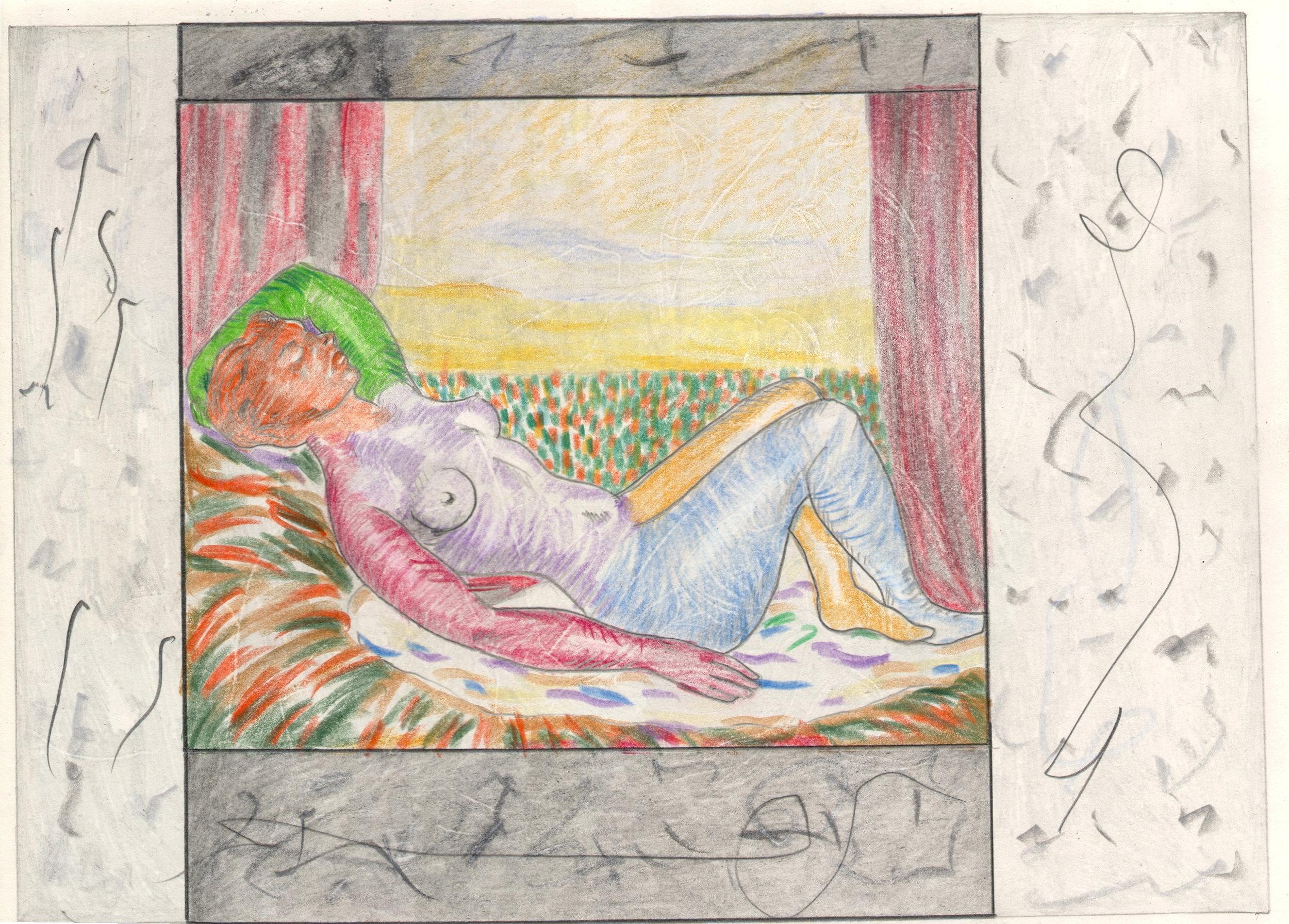 O.T. ( Rene Magritte Paraphrase ), 2018  Bleistift und Buntstift auf Papier, 26x35.5cm