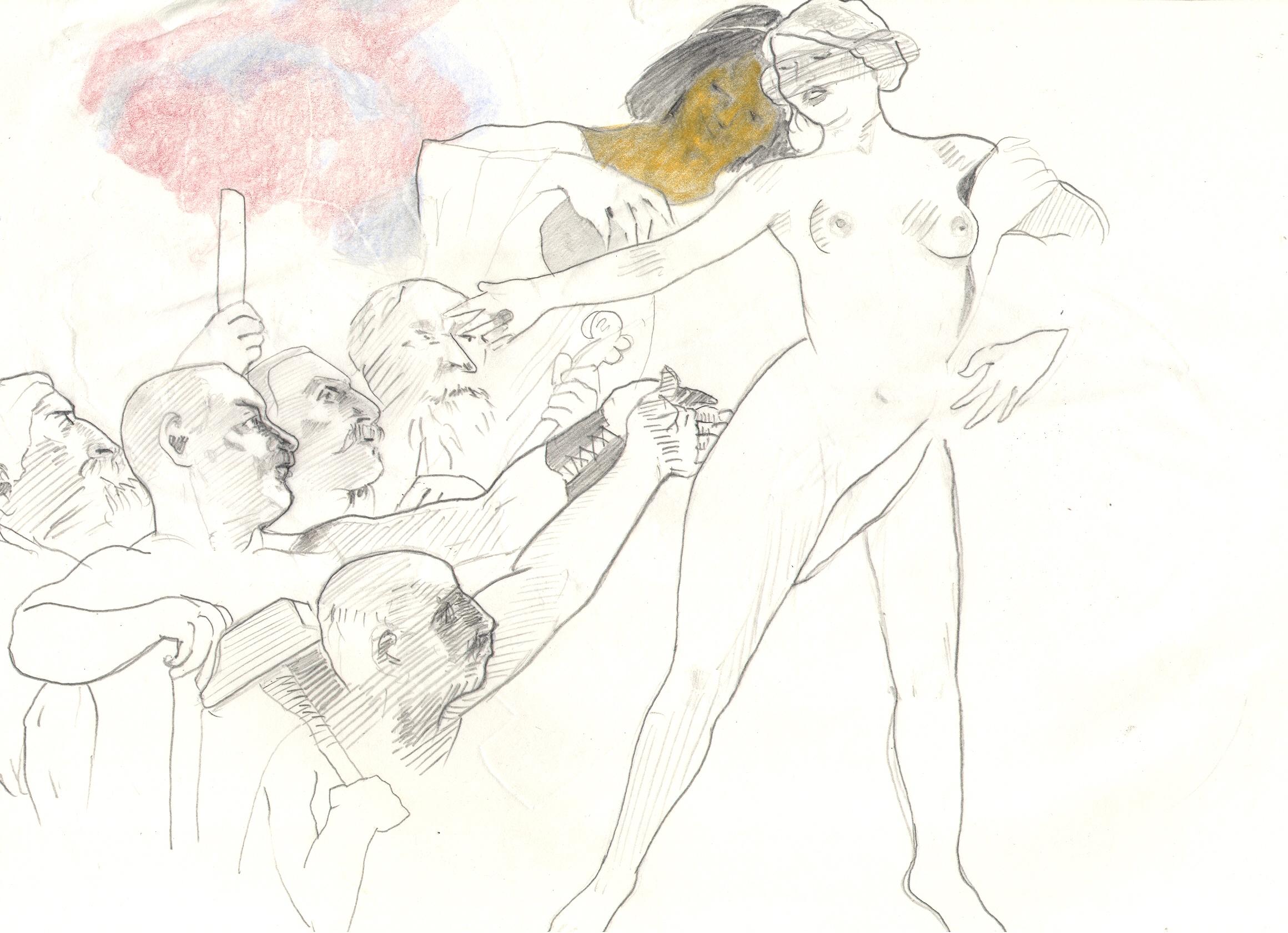 O.T. ( Jungesellenmaschinen ), 2018  Bleistift auf Papier, 26x35.5cm
