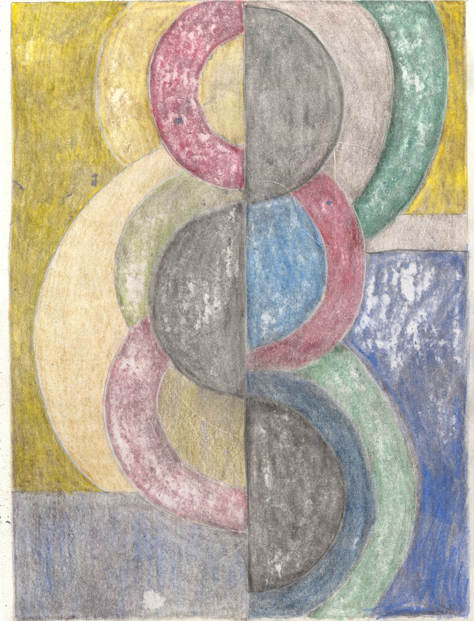 O.T. ( Serie Famlilie Delaunay 2 ), 2018  Bleistift auf Papier, 26x35.5cm