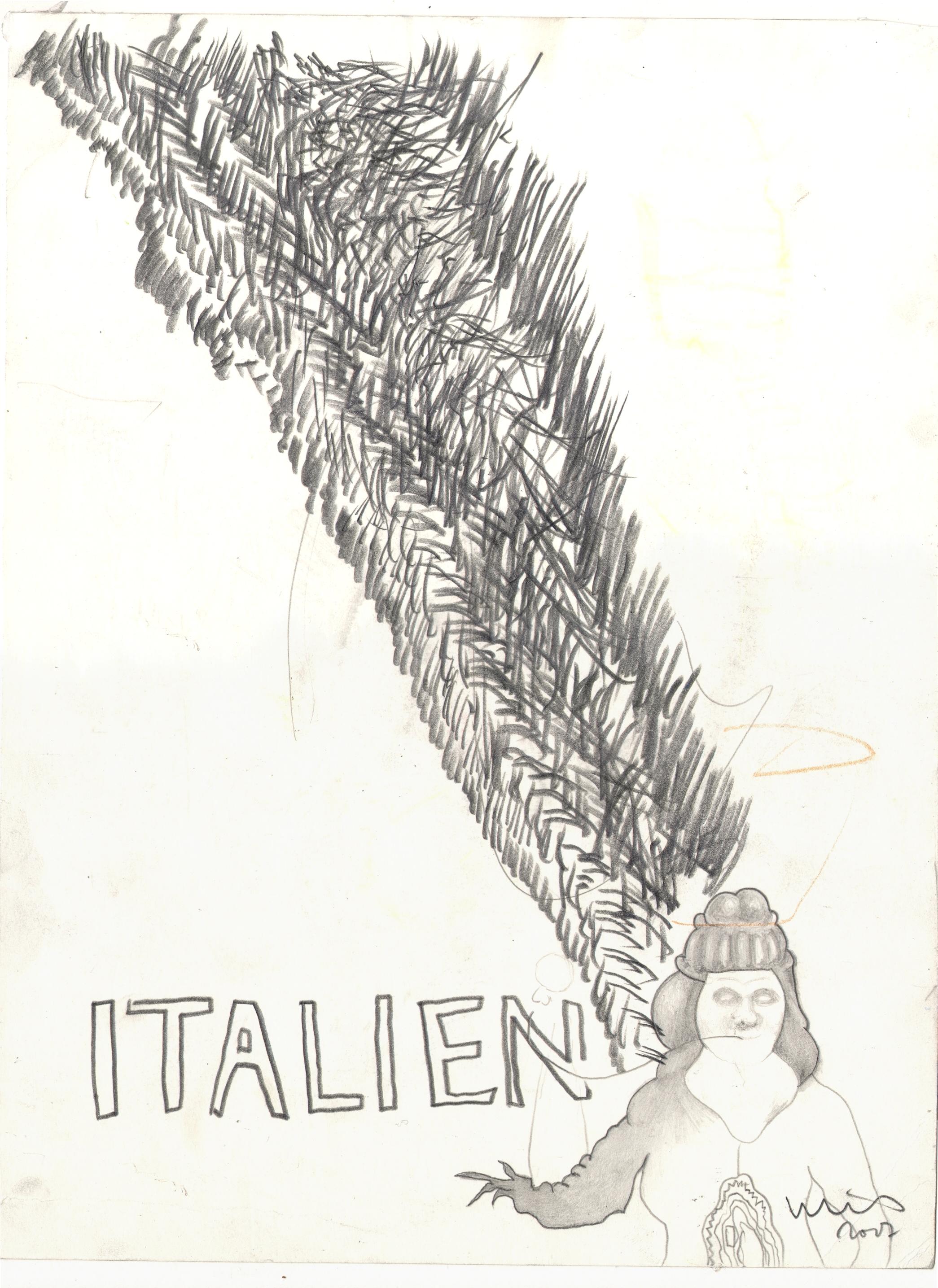 O.T. ( Italien ), 2017  Bleistift auf Papier, 26x35.5cm