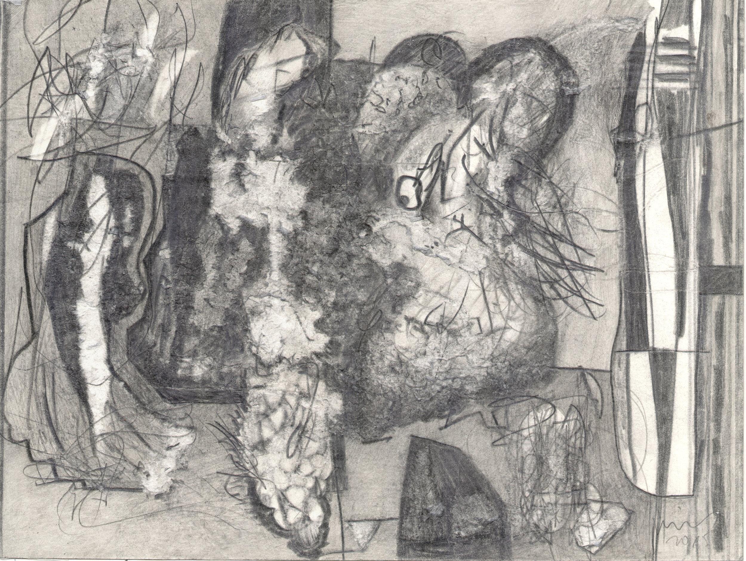 O.T. ( Maus ), 2017  Bleistift auf Papier, 26x35.5cm