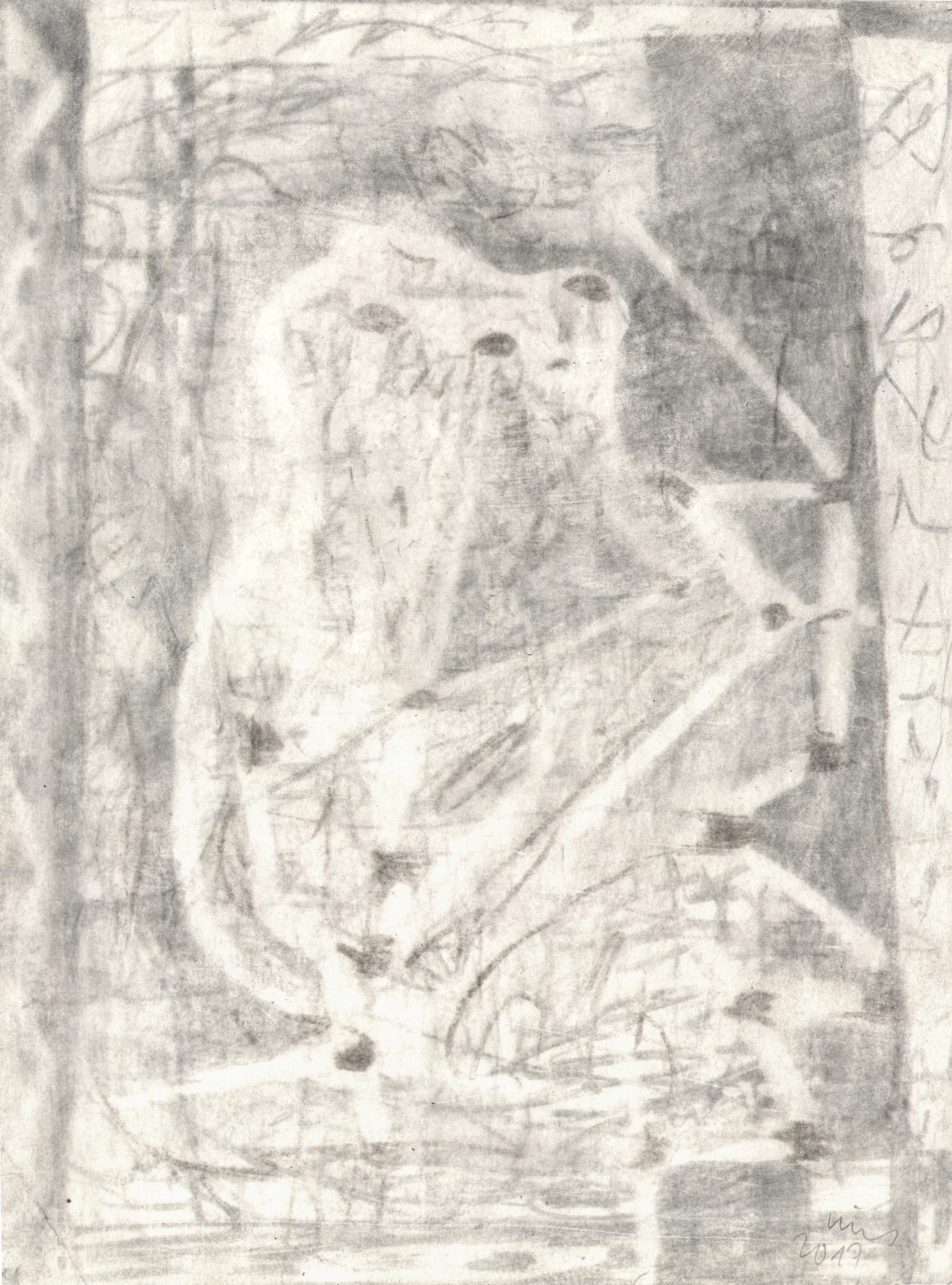 O.T. ( Figur ), 2017  Bleistift auf Papier, 26x35.5cm