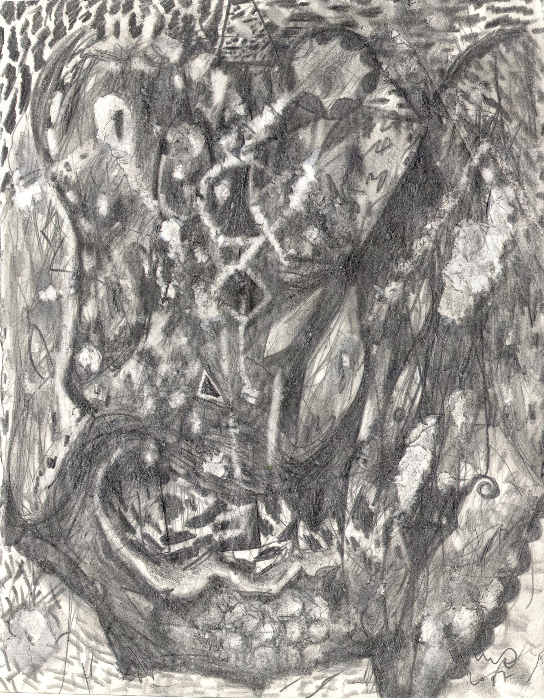 O.T. ( Figur und Abstraktion II ) , 2017  Bleistift auf Papier, 26x35.5cm